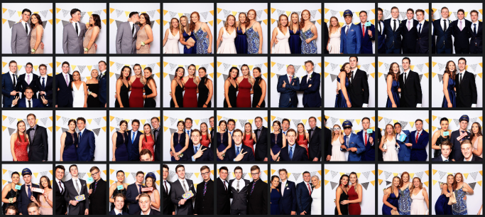 Farrer school formal photo booth images. Photos by Happy booth Australia in Tamworth. Based in Coffs Harbour