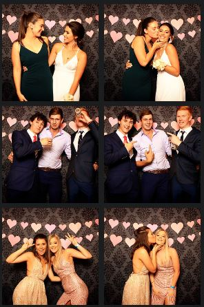 Year 12 school formal at tamworth town hall photo booth mccarthy