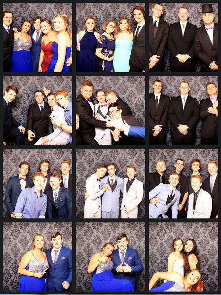 Students from Kempsey High Year 12 having photos taken in photo booth at their year 12 formal. Photos taken by happy booth