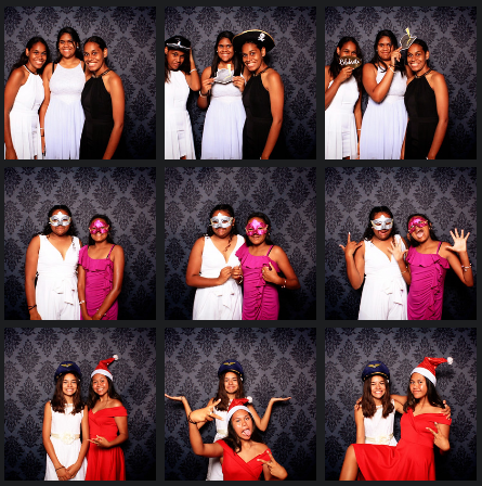 girls in the photobooth at Kempsey High Girls Academy Awards Night